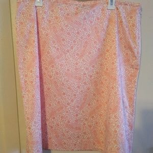 BROOKS BROTHERS 346 skirt size 16 floral PINK